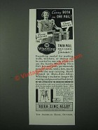 1938 Wheeling Twin Pail Ad - Carry Both in One Pail