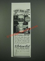 1938 KitchenAid Coffee Mill Ad - Freshly Ground Coffee