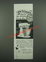 1938 KitchenAid Model K Mixer Ad - Complete Food Preparer