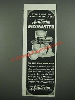 1938 Sunbeam Mixmaster Ad - Over a Million Enthusiastic Users
