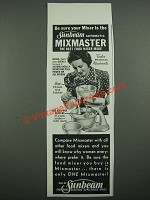 1938 Sunbeam Mixmaster Ad - Be Sure Your Mixer is the Sunbeam Automatic