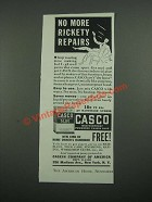 1938 Casco Glue Ad - No More Rickety Repairs