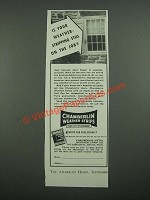 1938 Chamberlin Weather Strips Ad - Is Your Weather Stripping Still on the Job?
