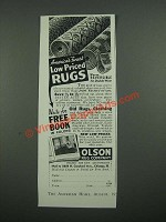 1938 Olson Rug Company Ad - America's Finest Low Priced Rugs