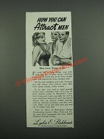 1938 Lydia E. Pinkham's Vegetable Compound Ad - How You Can Attract Men