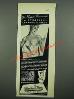 1938 Maiden Form No. 555 Bra Ad - Perfect for Strapless Evening Gowns