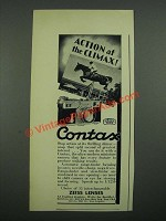 1938 Zeiss Contax Camera Ad - Action at The Climax!