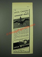 1938 Leica Model IIIB Camera Ad - For The Unusual Shots