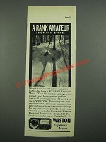 1938 Weston Exposure Meter Ad - A Rank Amateur Shot This Scene