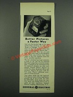 1938 General Electric Exposure Meter Ad - Better Pictures a Faster Way