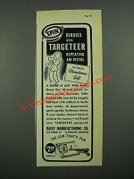 1938 Daisy Targeteer Air Pistol Ad - Spin Birdies With Targeteer