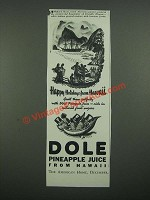 1938 Dole Pineapple Juice Ad - Art by Millard Sheets