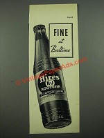 1938 Hires Root Beer Ad - Fine at Bedtime