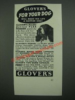 1938 Glover's Double Action Flea Powder Ad - For Your Dog