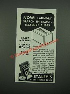 1938 Staley's Gloss Starch Cubes Ad - Exact-Measure