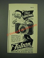 1938 Falcon Camera Ad - This Christmas