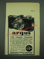 1938 Argus Model AF Camera Ad - Candid Camera