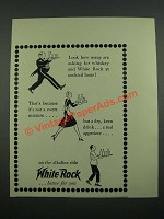 1937 White Rock Water Ad - Look How Many Are Asking For