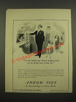 1942 Arrow Ties Ad - Cartoon by Richard Decker