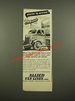 1942 Allied Van Lines Ad - Where To, Mister?