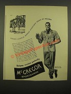 1939 McGregor Sportswear Ad - Scotch Minded Sportsmen Relax in Salyna