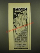 1939 Maiden Form Ad - Intimo-Topped Once-Overs Foundation, Chansonette Bandeau