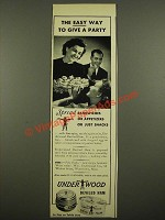 1939 Underwood Deviled Ham Ad - The Easy Way to Give a Party