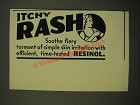 1939 Resinol Ointment Ad - Itchy Rash