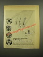 1948 La Mode Buttons Ad - More Needles Pass Through