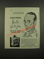1948 Williams Aqua Velva After-Shave Ad - Norman Rockwell Invites You to Join