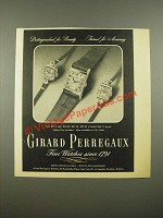 1948 Girard Perregaux Watches Ad - Distinguished for Beauty