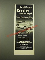 1948 Crosley Station Wagon Ad - Striking