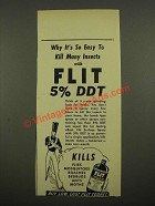 1948 Flit Bug Spray Ad - Why It's So Easy To Kill Many Insects