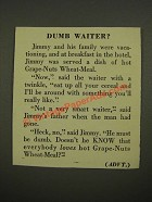 1948 Post Grape-Nuts Wheat-Meal Ad - Dumb Waiter?