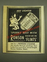 1948 Ronson Redskin Flints Ad - Any Lighter