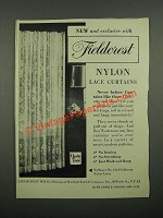 1949 Fieldcrest Nylon Lace Curtains Ad - New And Exclusive