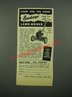 1949 Buckeye Power King #76 Lawn Mower Ad - Look For The Name