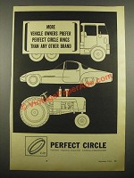 1964 Perfect Circle Rings Ad - More Vehicle Owners Prefer