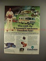1977 Coachmen RV Ad w/ Gale Sayers - Freedom Sale!!