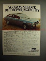 1977 Lancia Beta HPE Car Ad - Need, But Do You Want it?