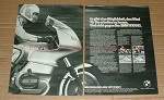 1977 BMW 2-page R100RS Motorcycle Ad, in German - NICE!