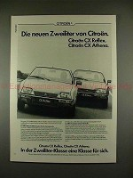 1979 Citroen CX Reflex & CX Athena Car Ad - in German!