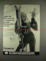 1979 Atomic Ski Ad w/ Cornelia Lange - in German, NICE!