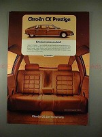 1979 Citroen CX Prestige Car Ad - in German, NICE!!