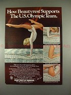 1979 Simmons Beautyrest Mattress Ad w/ Cathy Rigby!!