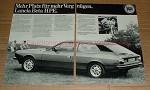 1979 2pg Lancia Beta HPE Car Ad, in German - NICE!!