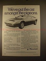 1981 Maserati Merak SS Car Ad - Cat Amongst the Pigeons