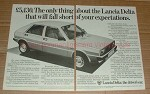 1982 2pg Lancia Delta Car Ad - Fall Short Expectations!