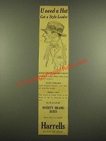 1915 Harrells Knox Light Weight Felt Hat Ad - U Need a Hat