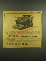 1915 Royal No. 10 Typewriter Ad